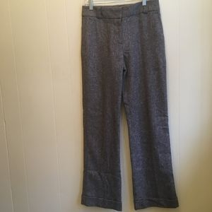 J CREW WOOL BLEND CUFFED TROUSERS. SIZE 4